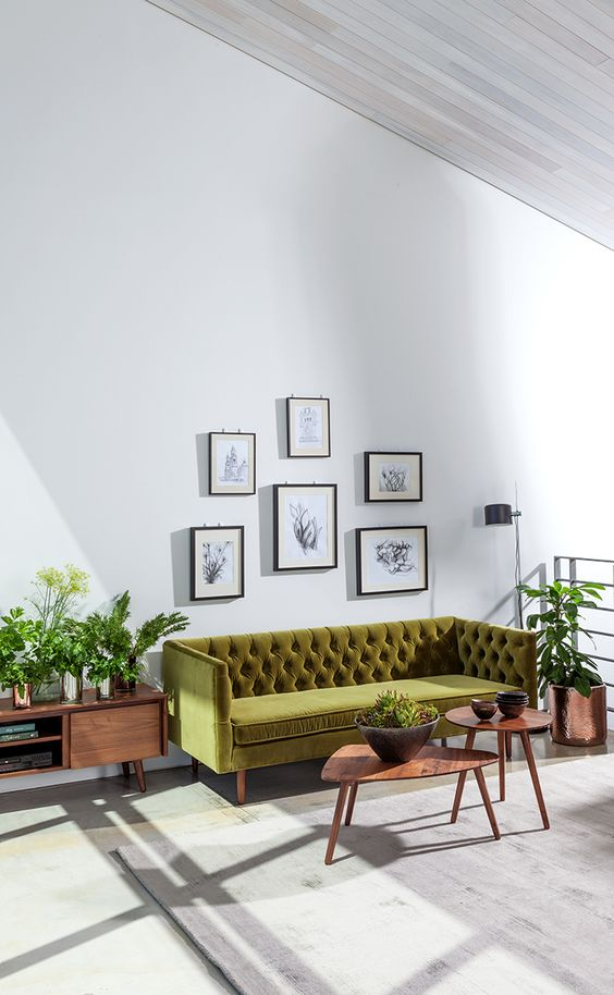 chester field bank in modern interieur