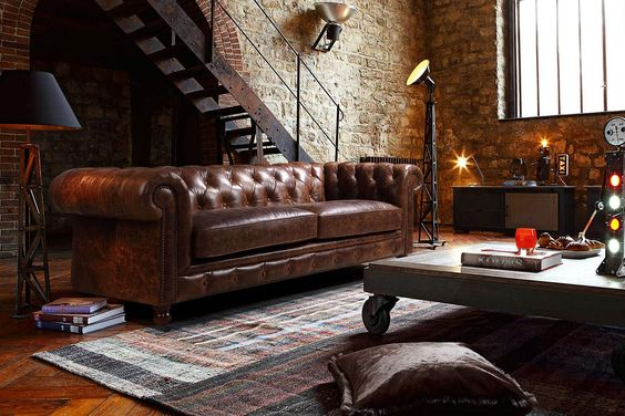 vintage chesterfield bank