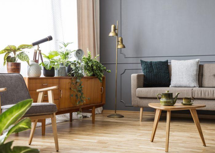 Een vintage woonkamer creëren